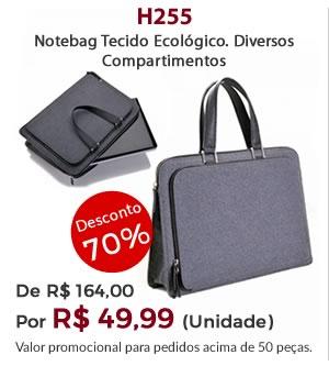 H255 - Notebag Tecido Ecológico. Diversos Compartimentos - Por R$ 49,99 unidade