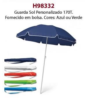 H98332 - Guarda Sol Personalizado 170T. Fornecido em bolsa. Cores: Azul ou Verde