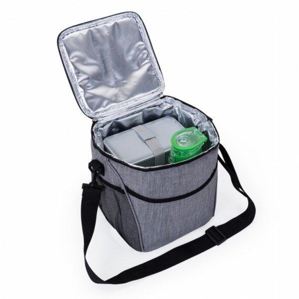 6b7962c87 Bolsa térmica 12 litros de material poliéster com detalhes em nylon  Personalizada para Brindes H1201 - Brindes ...