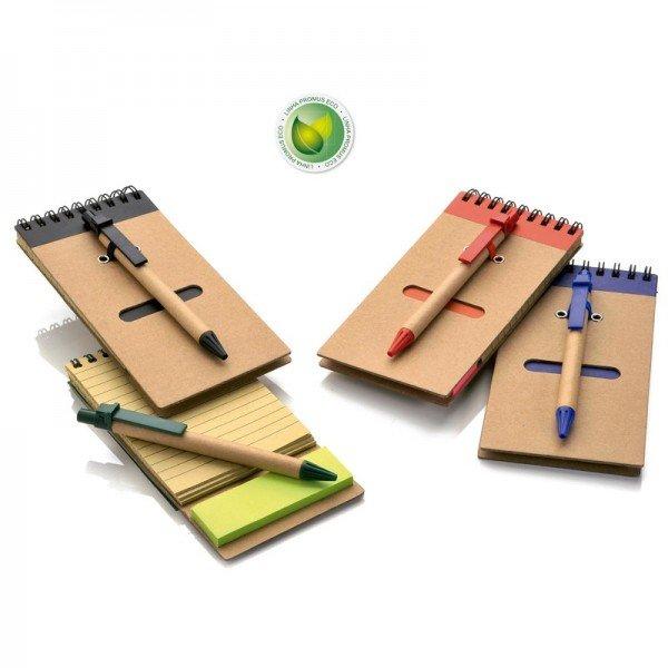 0a407b029 Bloco de anotações com adesivos coloridos e caneta Personalizado para  Brindes H353 - Brindes Personalizados é Promus Brindes