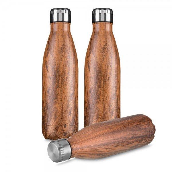 63c928f037 Garrafa aço inoxidável 750 ml madeirado Personalizada para Brindes H1473 -  Brindes Personalizados é Promus Brindes